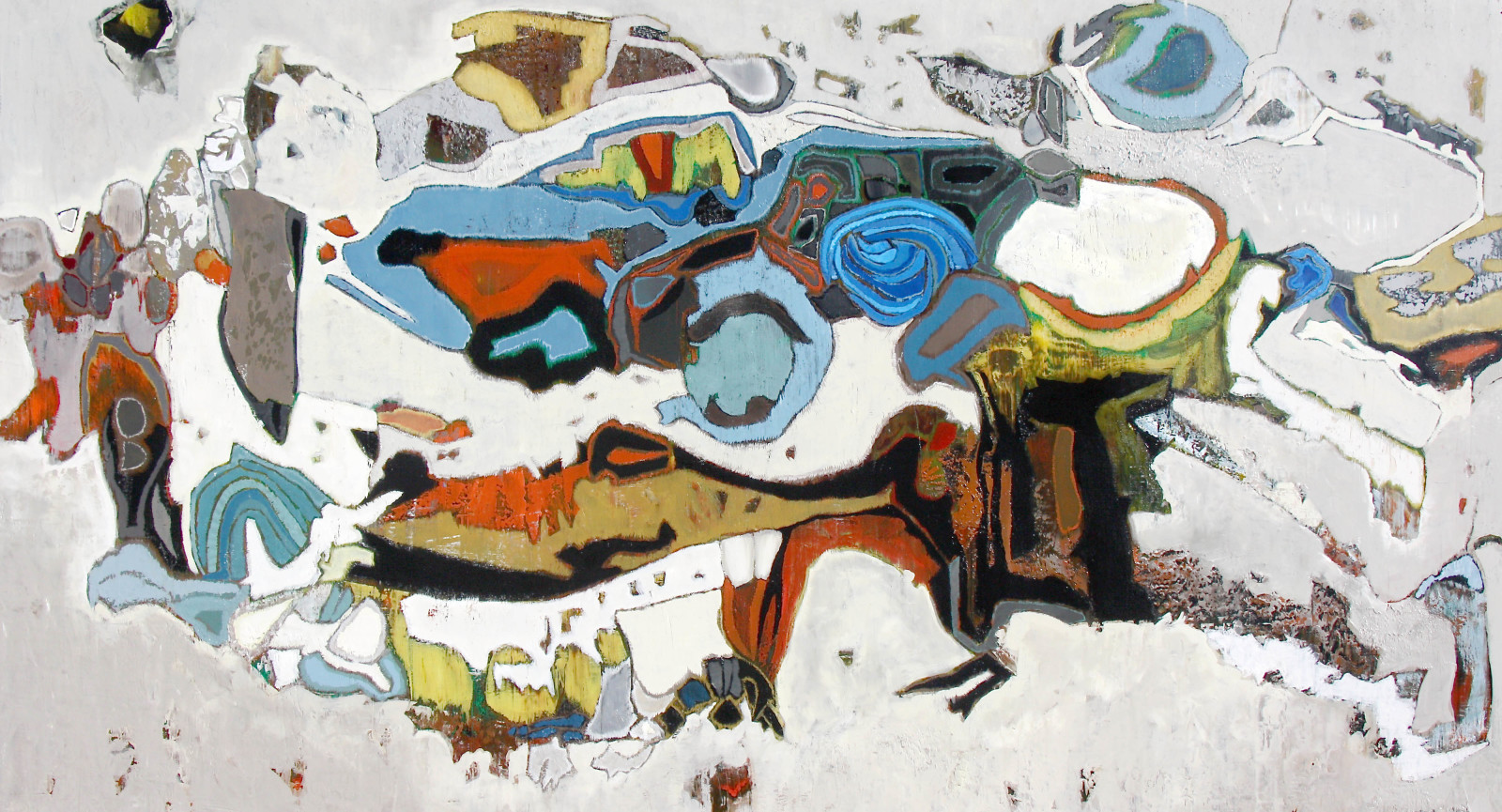 Belize, 2015, oil on canvas, 38 x 70 in.  Collection of Long Beach Museum of Art
